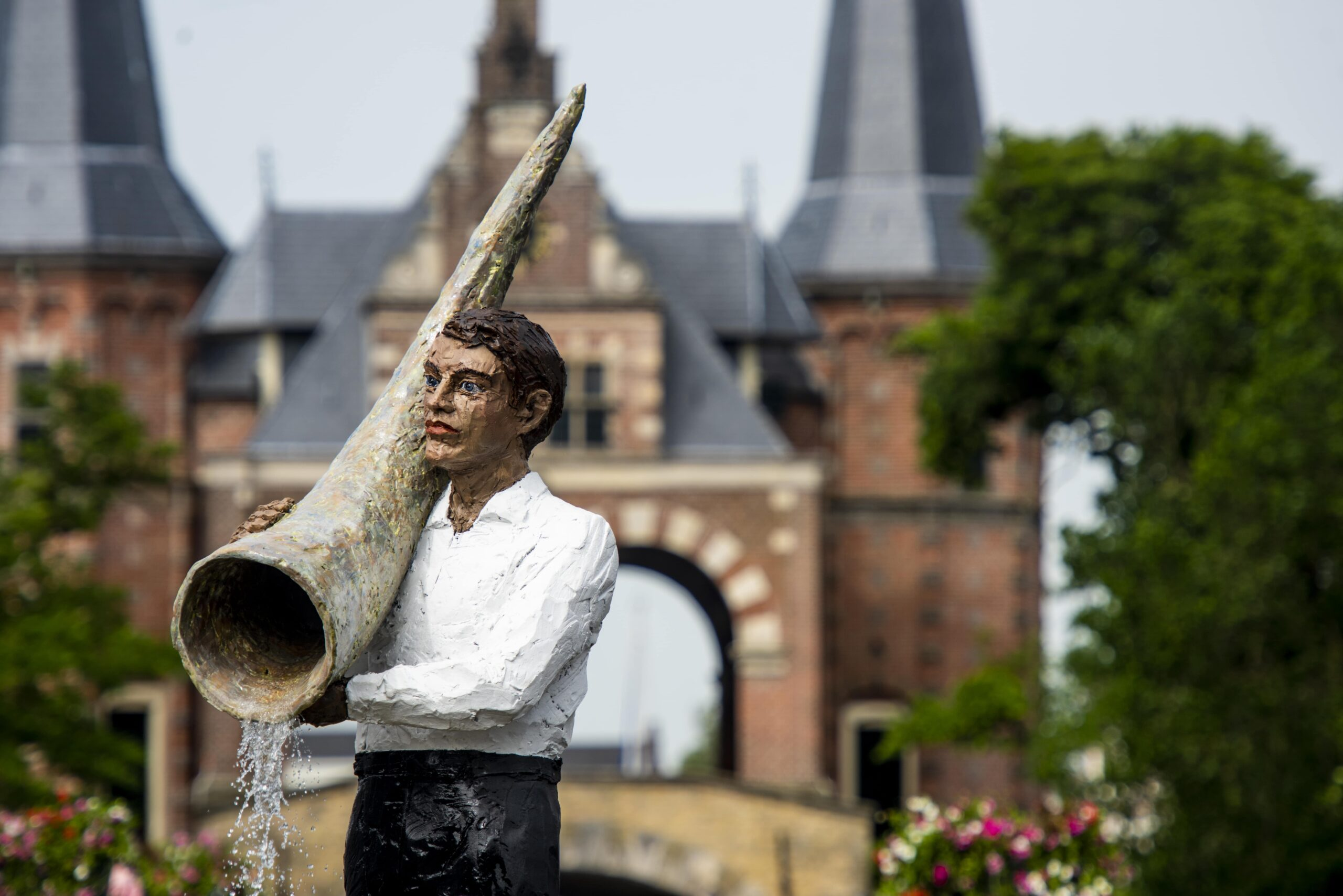 Waterland van Friesland Sneek fontein © Stephan Balkenhol-min